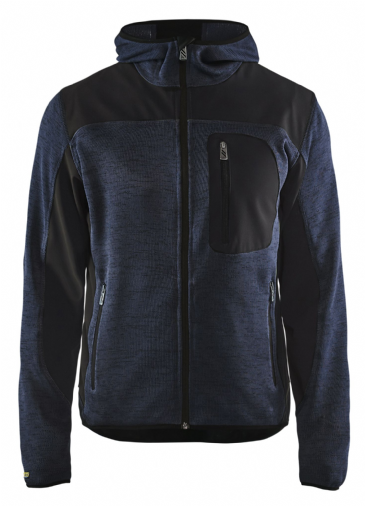 Blaklader 4930 Knitted Jacket with Hood (Dark Navy / Black)